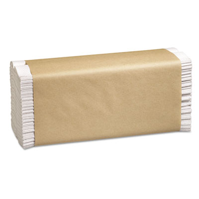 Folded Paper Towels, 10 1/8 x 13, C-Fold, White, 150/Pack, 16 Pa