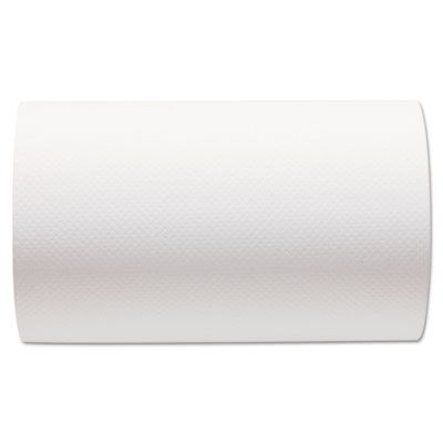Hardwound Paper Towel Roll, Nonperforated, 9 x 400ft, White, 6 R
