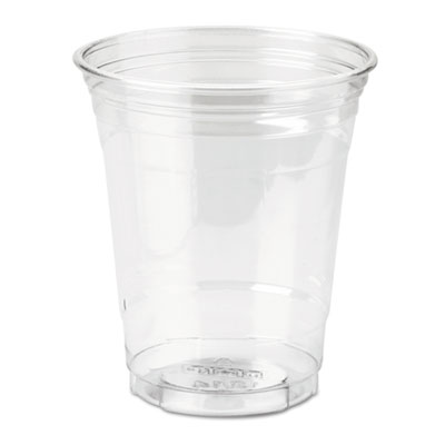 Clear Plastic PETE Cups, Cold, 12oz, WiseSize, 25/Pack, 20 Packs