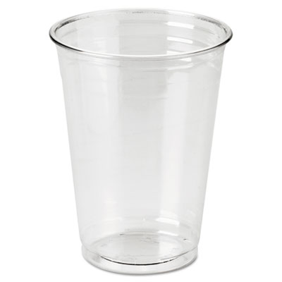 Clear Plastic PETE Cups, Cold, 10oz, WiseSize, 25/Pack, 20 Packs