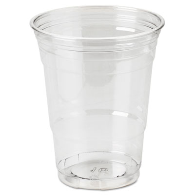 Clear Plastic PETE Cups, Cold, 16oz, WiseSize, 25/Pack, 20 Packs