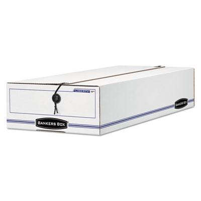 Liberty Storage Box, Card Size, 6 x 23-1/4 x 4-1/4, White/Blue,