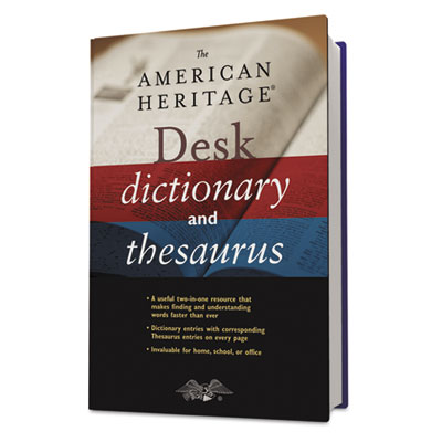 American Heritage Desk Dictionary, Hardcover, 864 pages