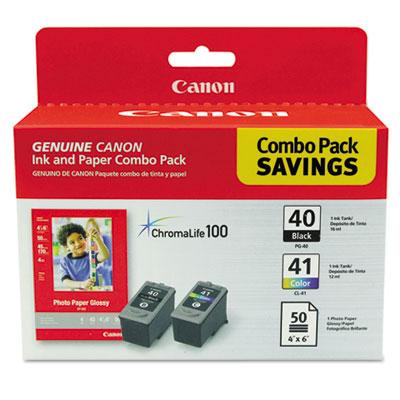 0615B009 Inks & Paper Pack, PGI-210XL, CLI-211XL, 50 Glossy 4 x