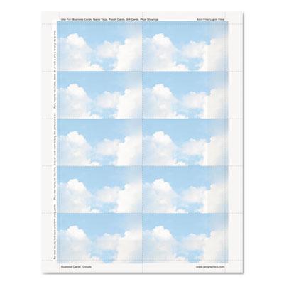 Clouds Design Business Suite Cards, 3 1/2 x 2, 65 lb Cardstock,