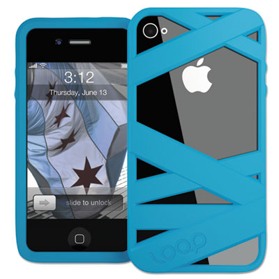 Loop Mummy Case for iPhone 4/4S, Neon Blue