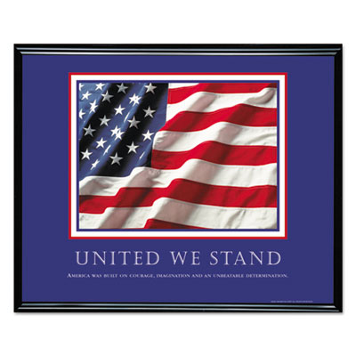 """United We Stand"" Framed Motivational Print, 30 x 24"