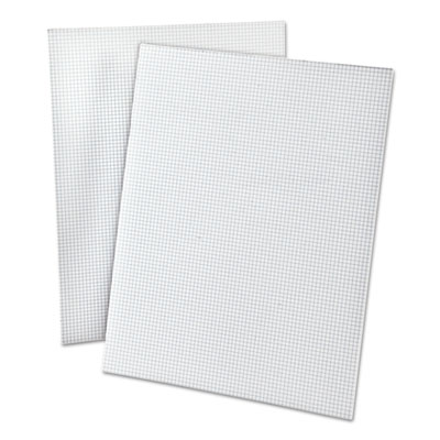 20lb Quadrille Pad w/8 Squares/inch, Letter, White, 50 Sheets