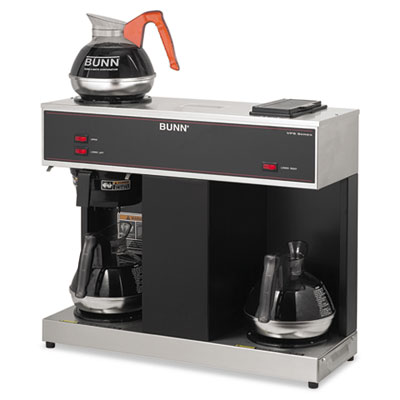 Pour-O-Matic Three-Burner Pour-Over Coffee Brewer, Stainless Ste