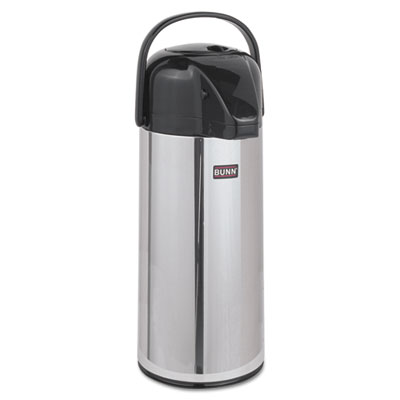 Airpot Carafe, 2200mL, Stainless Steel