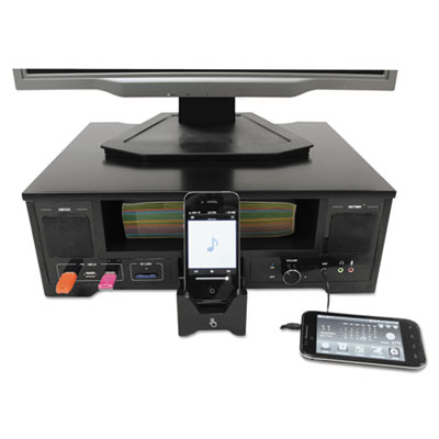 All in One Monitor Riser with Apple Docking Station, 13 x 16 1/5