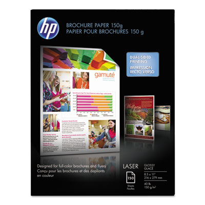 Color Laser Brochure Paper, 97 Brightness, 40lb, 8-1/2 x 11, Whi