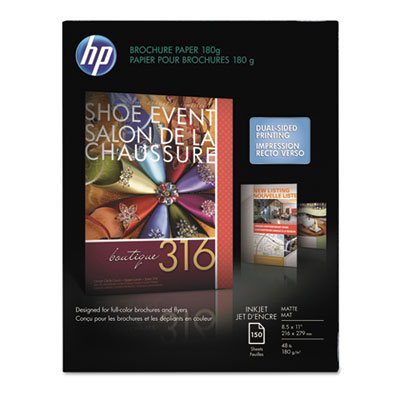 Inkjet Brochure/Flyer Paper, 103 Brightness, 48lb, 8-1/2 x 11, W