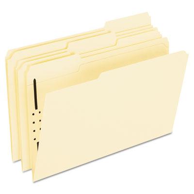 Fastener Folders, 1 Fasteners, 1/3 Cut Tabs, Legal, Manila, 50/B