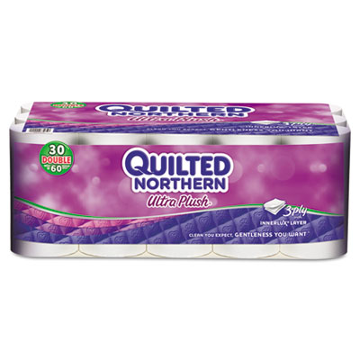 Bathroom Tissue, 3-Ply, White, 30 Rolls/Carton
