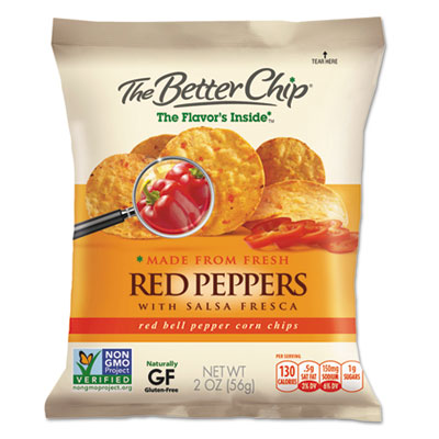 Corn Chips, Red Bell Peppers with Salsa Fresca, 2oz Bag, 18/Box