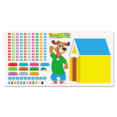 100th Day Happy Hound Bulletin Board Set, 137 pieces