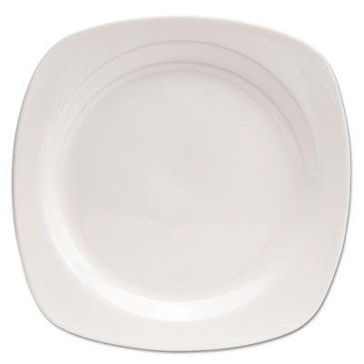 "Chef's Table Porcelain Square Dinnerware, Plate, 10 1/2"" dia, Wh"