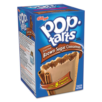 Pop Tarts, Brown Sugar Cinnamon, 3.52oz, 2/Pack, 6 Packs/Box