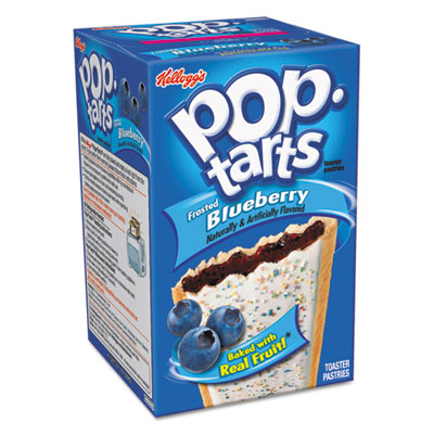 Pop Tarts, Frosted Blueberry, 3.52oz, 2/Pack, 6 Packs/Box
