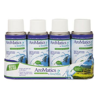 AroMatics Refill, Meadow Breeze, 3oz Aerosol, 4/Pack