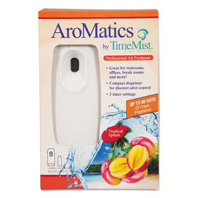 AroMatics Dispenser/Refill Kits, 3oz Tropical Splash Refill, Whi