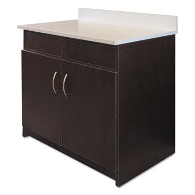 Hosp. Base Cabinet, 2 Doors/2 Flipper Doors, 36w x 24d x 34h, Es