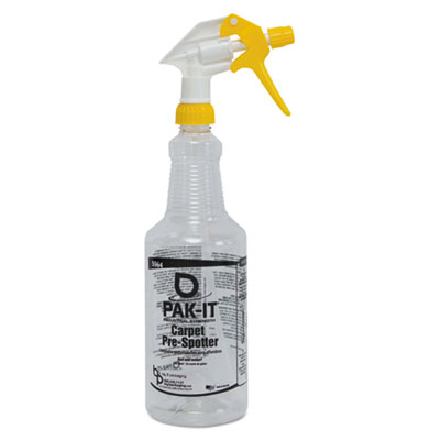 Color-Coded Trigger-Spray Bottle, 32 oz, Yellow: Carpet Pre-Spot