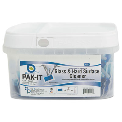 Glass & Hard-Surface Cleaner, Pleasant Scent, 100/Tub