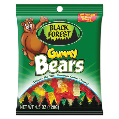 Candy Gummies, Gummy Bears, Original Assortment, 4.5oz Bag, 12/C