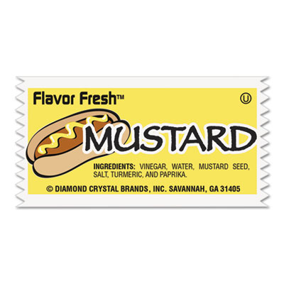 Flavor Fresh Mustard Packets, .317oz, 200/Carton