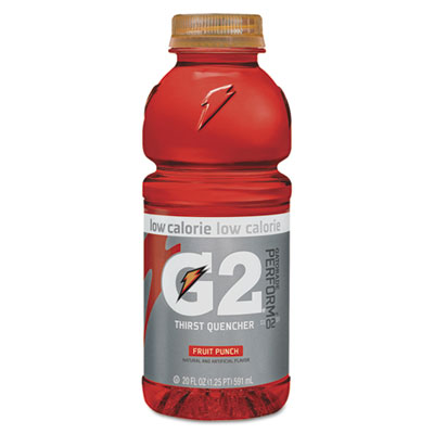 G2 Perform 02 Low-Calorie Thirst Quencher, Fruit Punch, 20 oz Bo
