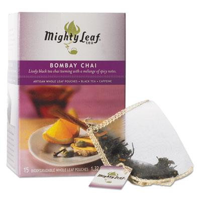 Whole Leaf Tea Pouches, Bombay Chai, 15/Box