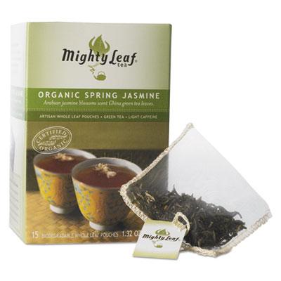 Whole Leaf Tea Pouches, Organic Spring Jasmine, 15/Box