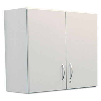 Hospitality Wall Cabinet, Two Doors, 36w x 14d x 30h, Gray