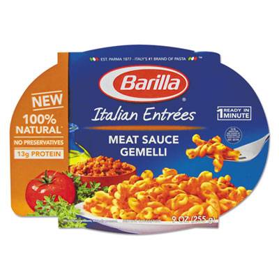 Italian Entree, Gemelli with Meat Sauce, 9 oz, Microwavable Tray