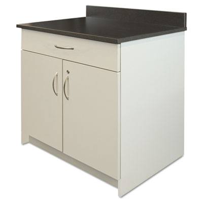 Hospitality Base Cabinet, Two Doors/Drawer, 36w x 24d x 34h, Gra