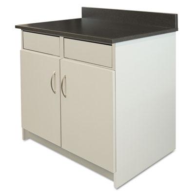 Hosp Base Cabinet, 2 Doors/2 Flipper Doors, 36w x 24d x 34h, Gra