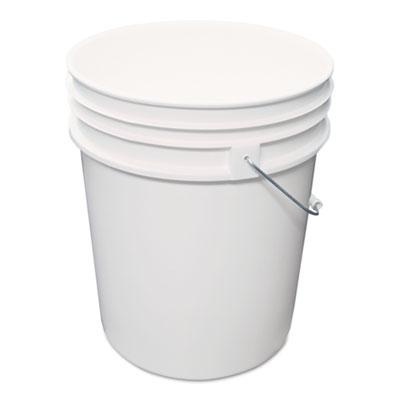 Utility Bucket, Polyethylene, 5gal, White
