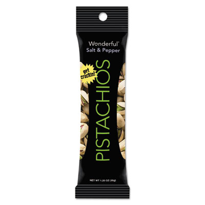Wonderful Pistachios, Salt & Pepper, 1.25oz Pack, 12/Box