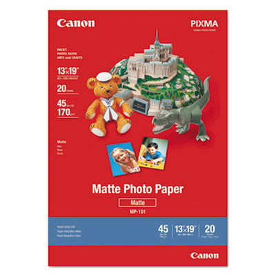 Matte Photo Paper, 13 x 19, 45 lb., White, 20 Sheets/Pack