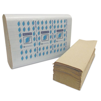 Multi-Fold Paper Towels, Kraft, 1-Ply