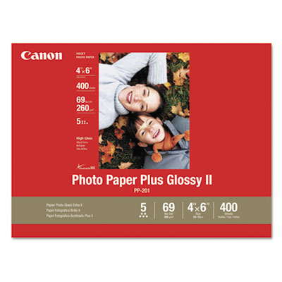Photo Paper Plus Glossy II, 4 x 6, 10.6 mil, White, 400 Sheets/P