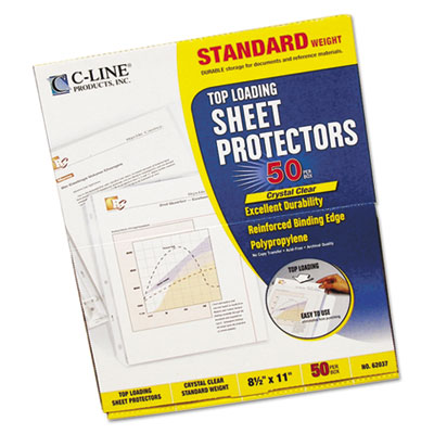 Standard Weight Polypropylene Sheet Protector, Clear, 11 x 8 1/2