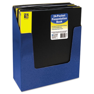 Bound Sheet Protector Presentation Book, 24 Sleeves, 11 x 8-1/2,