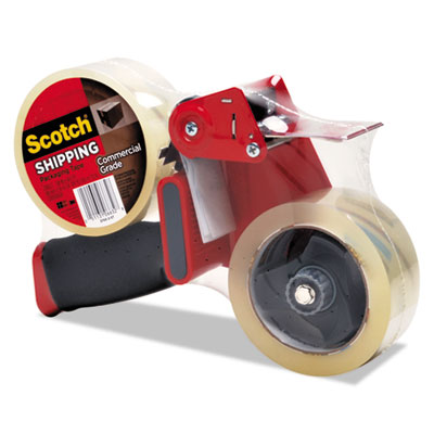 "Packaging Tape Dispenser with 2 Rolls of Tape, 1.88"" x 54.6yds,"