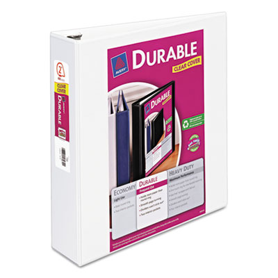 """Durable View Binder with Slant Rings, 2"""" Capacity, White"""