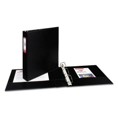 """Durable Binder with Two Booster EZD Rings, 1-1/2"""" Capacity, Blac"""