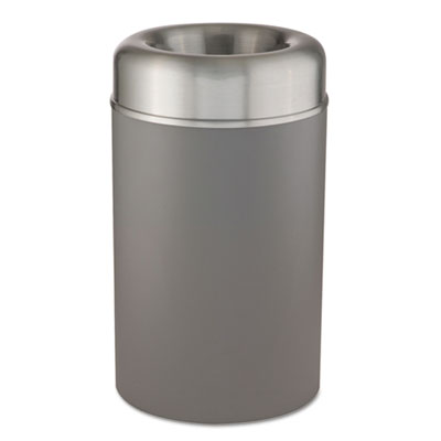 Crowne Collection Open Top Receptacle, Aluminum/Steel, 30 gal, S