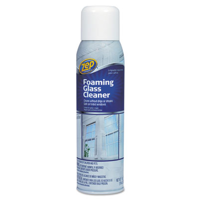 Foaming Glass Cleaner, 19 oz Aerosol Can, Pleasant Scent